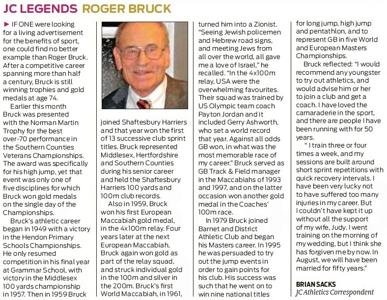 JC Legend - Roger Bruck